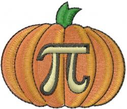 Pumpkin Pi embroidery design