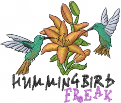 Hummingbird Freak embroidery design