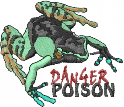 Danger Poison embroidery design