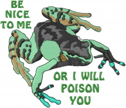 Be Nice To Me embroidery design