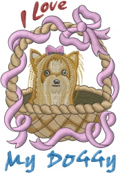 Love My Doggy embroidery design