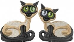 Siamese Cats embroidery design