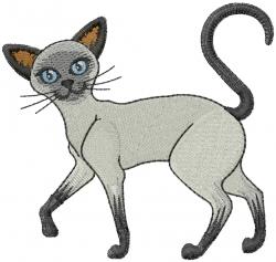 Siamese Cat embroidery design