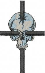 Skull Cross embroidery design
