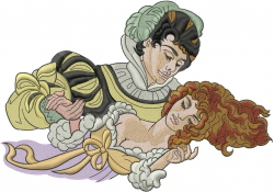 Sleeping Beauty embroidery design