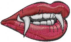Vampire Lips embroidery design