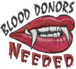 Blood Donors embroidery design