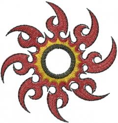 Ninja Star embroidery design
