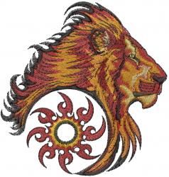Ninja Star Lion embroidery design