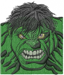 The Hulk embroidery design