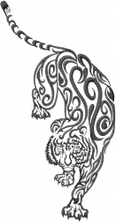 Tiger Tattoo embroidery design
