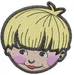 Boys Face embroidery design