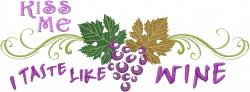 Taste Like Wine embroidery design