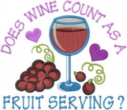Fruit Serving embroidery design