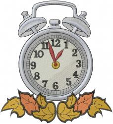 Autumn Clock embroidery design