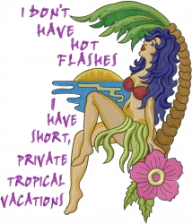 Tropical Vacations embroidery design