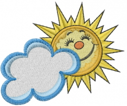 Smiley Sun embroidery design