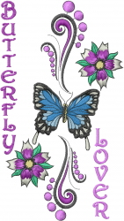 Butterfly Lover embroidery design