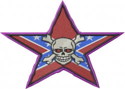 Confederate Skull embroidery design