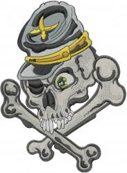 Confederate Skull embroidery design
