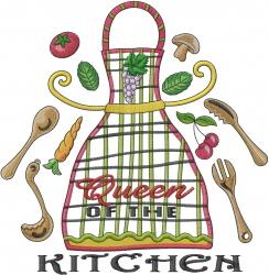 Kitchen Queen embroidery design