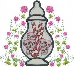 Dia de los Muertos Candy jar_ embroidery design