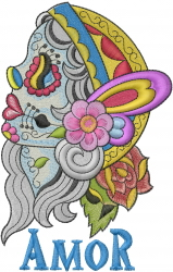 Amor embroidery design