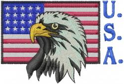 USA embroidery design