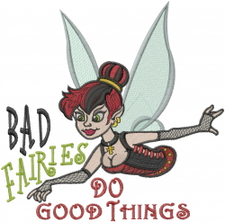 Bad Fairies embroidery design