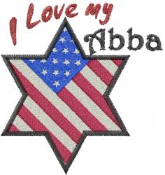 Love My Abba embroidery design
