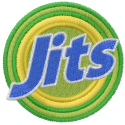 Jiu Jitsu embroidery design