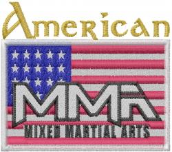 American MMA embroidery design