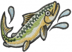 Rainblow Trout embroidery design