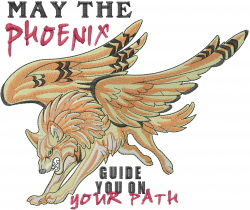 May The Phoenix embroidery design