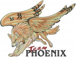 Team Phoenix embroidery design
