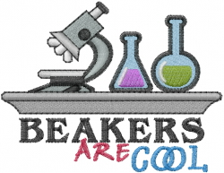 Beakers Are Cool embroidery design