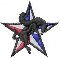 Ridem Cowboy embroidery design