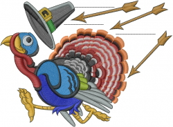 Thankgiving Turkey embroidery design