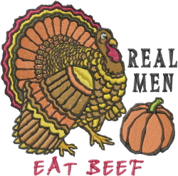 Eat Beef embroidery design