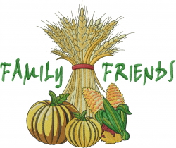 Family Friends embroidery design