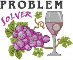 Problem Solver embroidery design