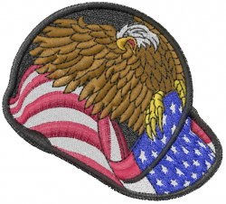 American Hardhat embroidery design