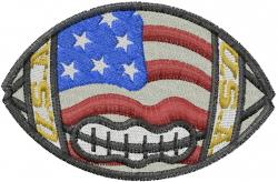 Flag Football embroidery design