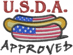 USDA Approved embroidery design