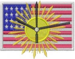 American Solar Energy embroidery design