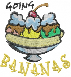 Going Bananas embroidery design
