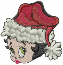 Betty Boop Christmas embroidery design