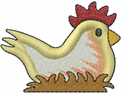 Country Chicken embroidery design