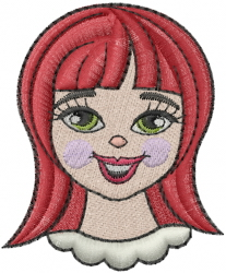 Girls Face embroidery design