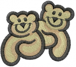 Smiling Bears embroidery design